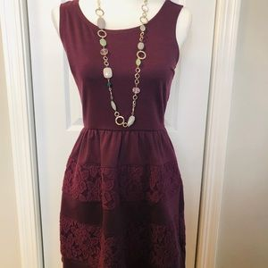 Burgundy Dress from Target. Size S. Never Worn.